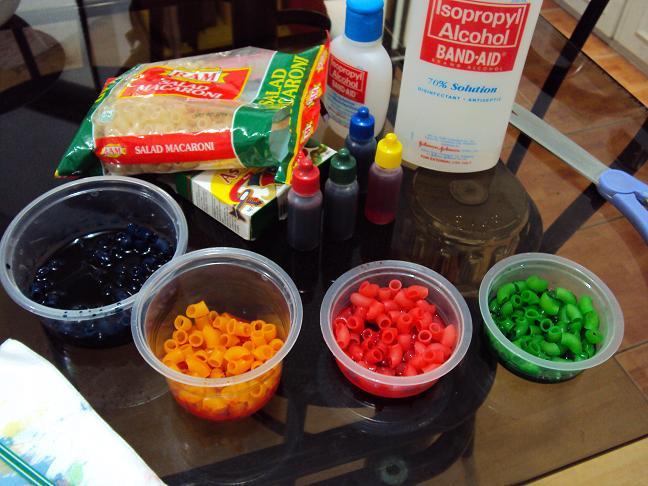 D-I-Y Pasta Beads