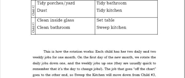 Review: Everyday Homemaking – The Everyday Family Chore System